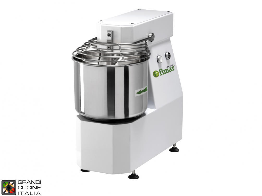 Spiral mixer with fixed head 7Kg/10lt - Testa fissa - Tf
