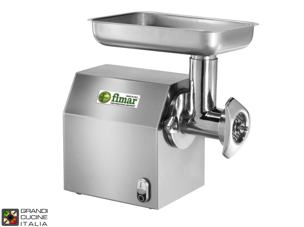 Meat Mincher Removable Stainless Cast Iron Mincing Unit 12/C  - Kw 0,75 -  Kg/h 160 - 380V