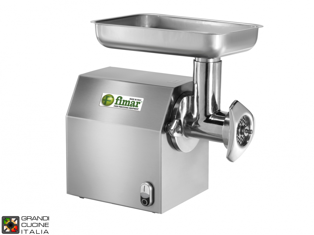 Meat Mincher Removable Stainless Steel Mincing Unit 12/C  - Kw 0,75 -  Kg/h 160 - 220V