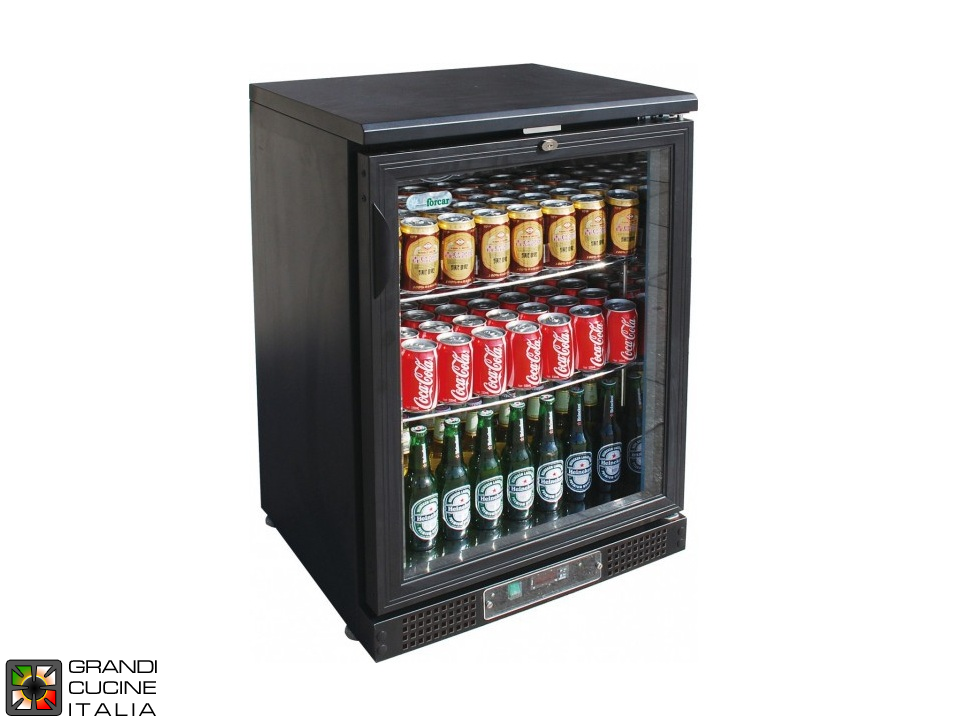 Refrigerated horizontal display case for beverages - Range +2/+8 °C - Capacity 140 LT