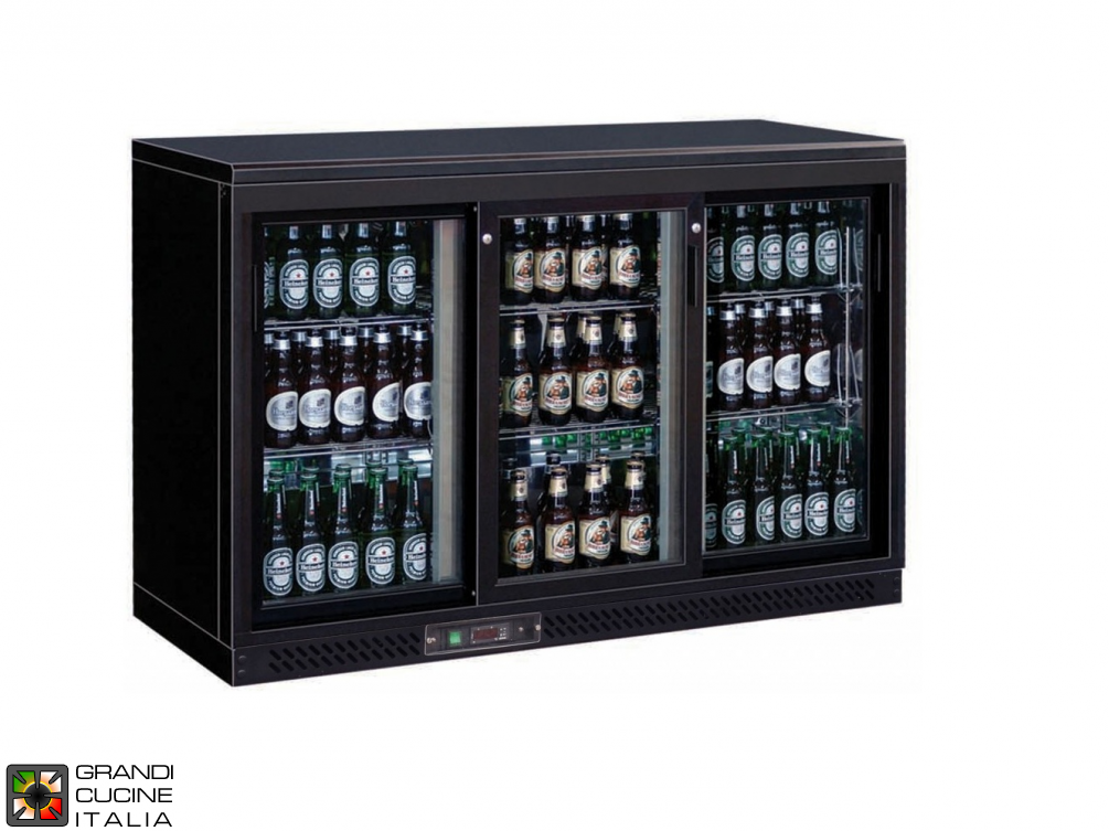 Refrigerated horizontal display case for beverages - Range +2/+8 °C - Capacity 335 LT