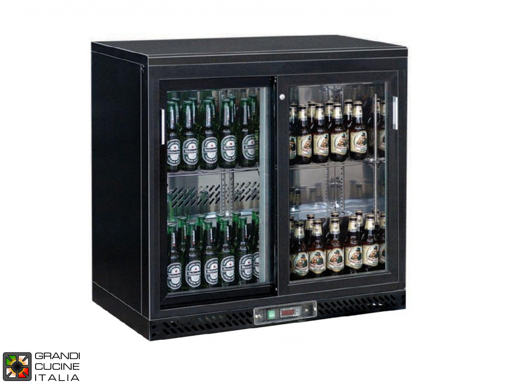 Refrigerated horizontal display case for beverages - Range +2/+8 °C - Capacity 223 LT