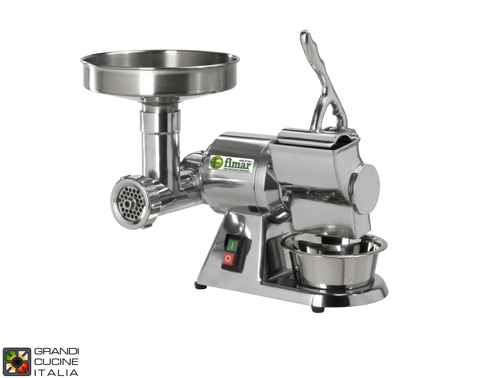 Combined meat mincer and grater 8/D
