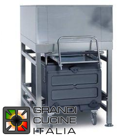 Storage bin for ice - Cart included - Capacity 318Kg - Cart capacity 73Kg