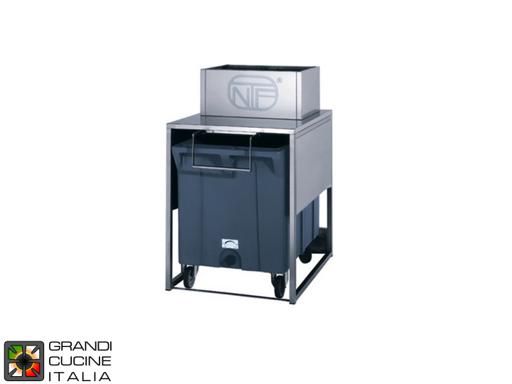 Storage bin for ice - Cart included - Capacity 17 kg - Cart capacity 108 kg