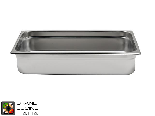 Stainless Steel GN 1\1 Tray - Height 15 Cm
