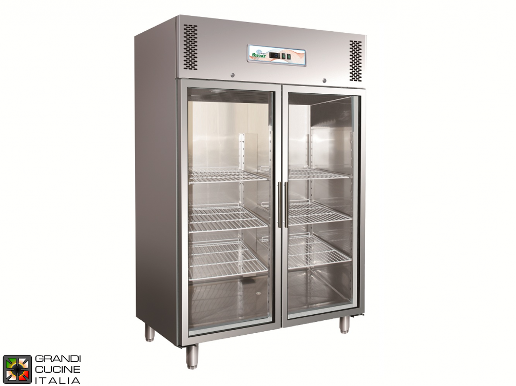 Refrigerated Cabinet - 1325 Liters - Temperature  -2 / +8 °C - Two Doors - Ventilated Refrigeration - Glass Door