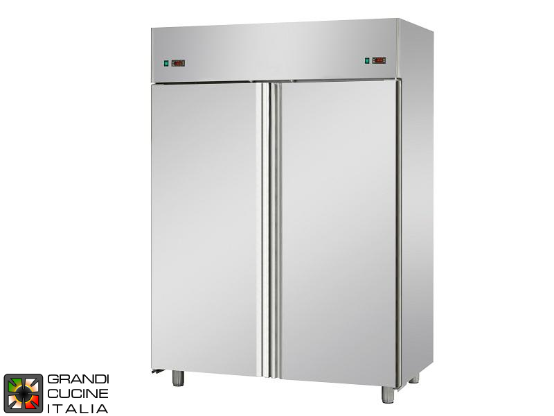 Dual Temp Refrigerated Cabinet - 1380 Liters - Temperature -2 / +8 °C - Two Doors - Ventilated Refrigeration