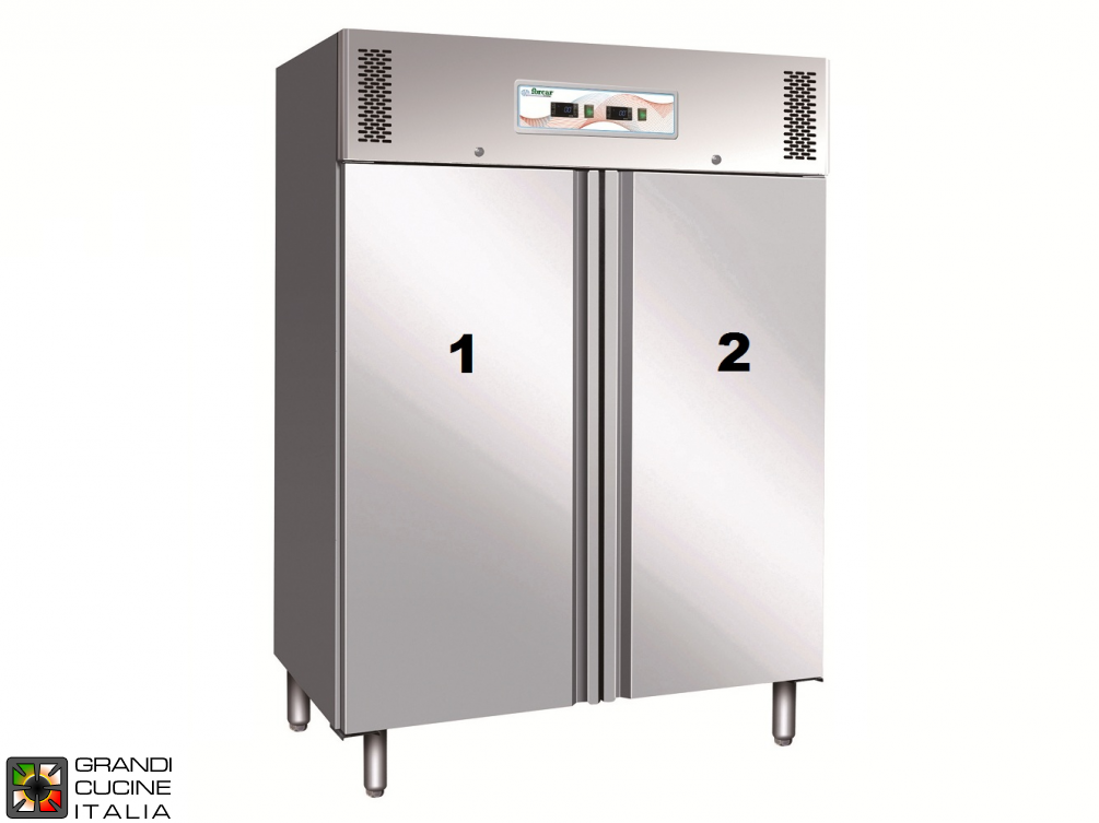 Dual Temp Refrigerated Cabinet - 1000 Liters - Temperature  -2 / +8 °C - Temperature  -18 / -22 °C - Two Doors - Ventilated Refrigeration