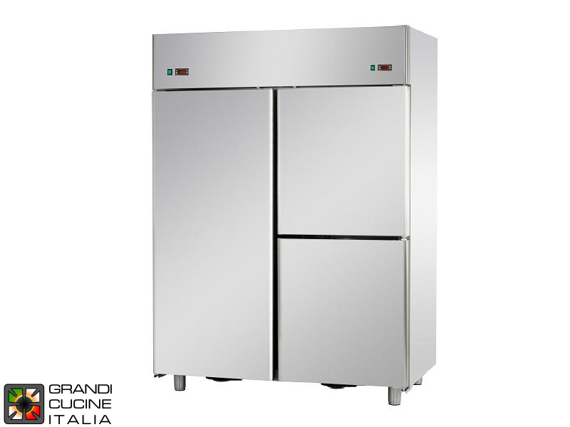 Dual Temp Refrigerated Cabinet - 1400 Liters - Temperature -18 / -22 °C - Three Doors - Ventilated Refrigeration