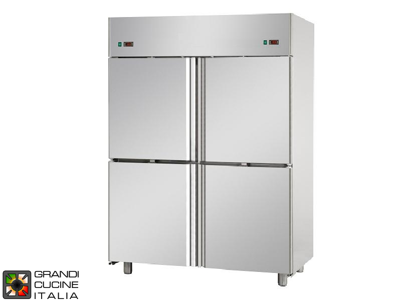 Dual Temp Refrigerated Cabinet - 1380 Liters - Temperature -2 / +8 °C - Temperature -18 / -22 °C - Four Doors - Ventilated Refrigeration