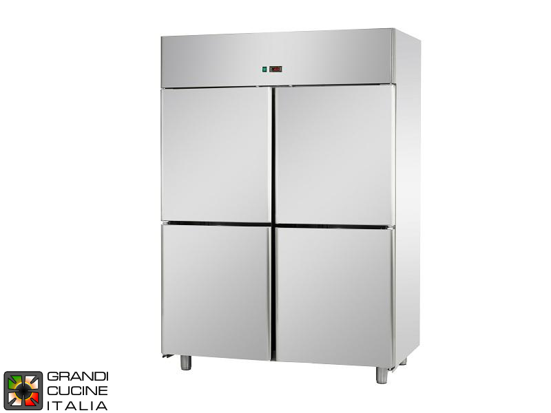 Refrigerated Cabinet - 1400 Liters - Temperature 0 / +10 °C - Four Doors - Ventilated Refrigeration