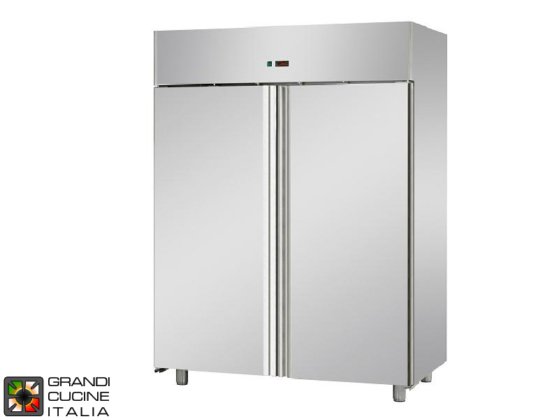 Refrigerated Cabinet - 1400 Liters - Temperature -2 / +8 °C - Two Doors - Ventilated Refrigeration