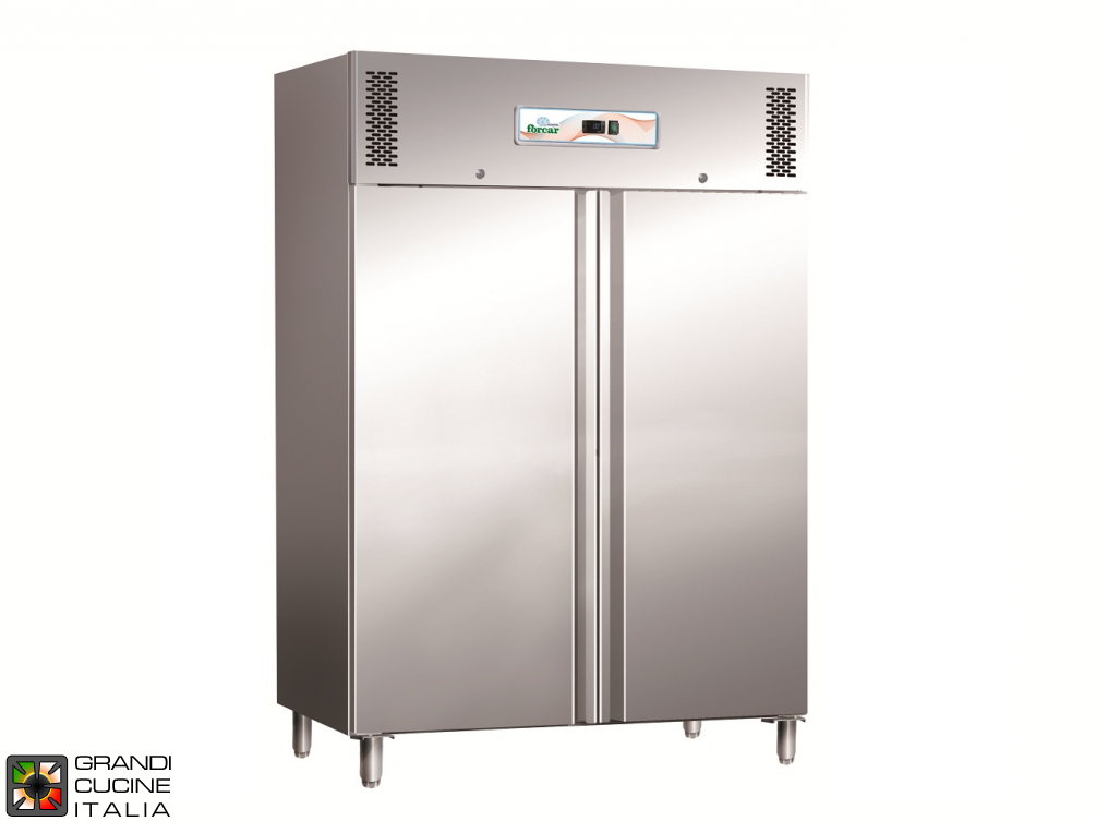 Refrigerated Cabinet - 1100 Liters - Temperature  +2 / +8 °C - Two Doors - Static Refrigeration
