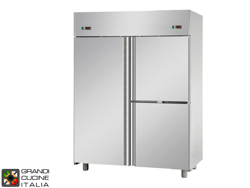 Dual Temp Refrigerated Cabinet - 1380 Liters - Temperature -2 / +8 °C - Temperature -18 / -22 °C - Three Doors - Ventilated Refrigeration