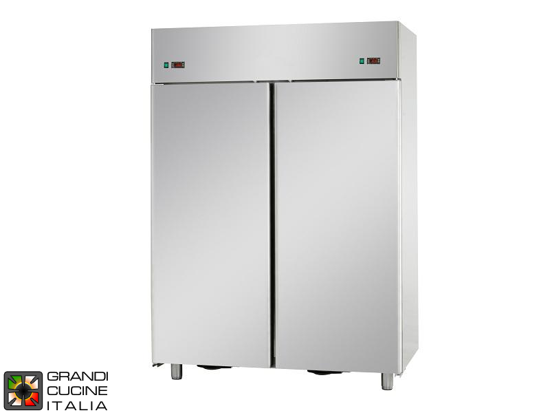 Dual Temp Refrigerated Cabinet - 1400 Liters - Temperature 0 / +10 °C - Two Doors - Ventilated Refrigeration