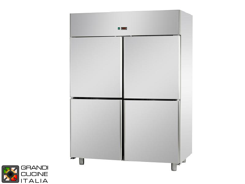 Freezing Cabinet - 1400 Liters - Temperature -18 / -22 °C - Four Doors - Ventilated Refrigeration - Pastry Version