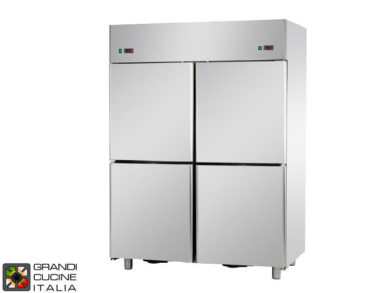 Dual Temp Refrigerated Cabinet - 1400 Liters - Temperature -18 / -22 °C - Four Doors - Ventilated Refrigeration