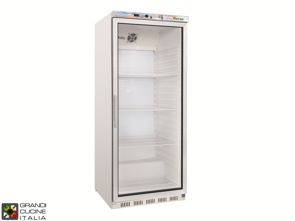 Refrigerator - 570 Liters - Temperature  +2 / +8 °C - Single Door - Static Refrigeration - Glass Door