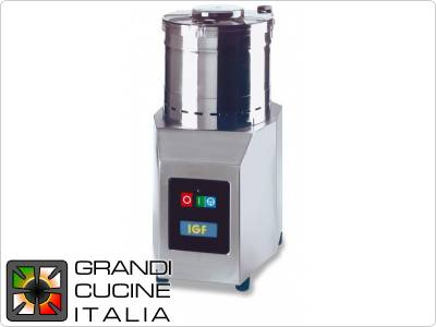 Cutter 8 Liters Capacity, Dual Speed - Rpm 1400/2800, 400V