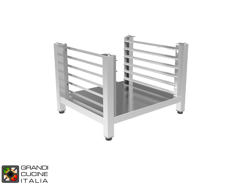 Medium Open Stand with Tray Holder - For EN 46x33 Ovens