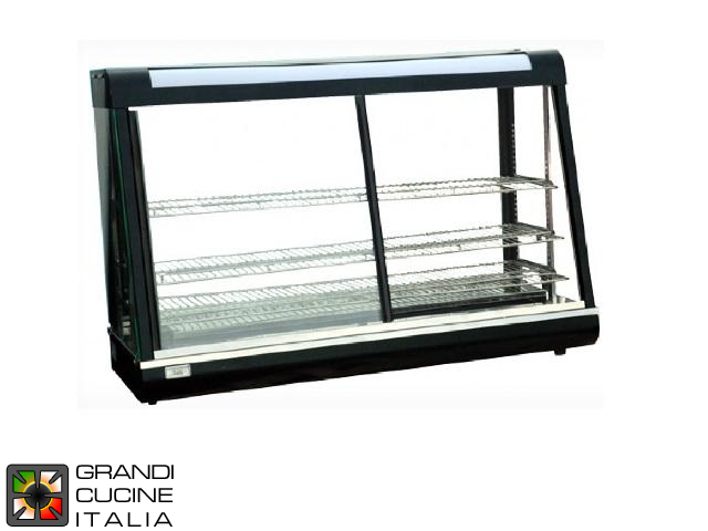 Hot Showcase - 3 extractable and adjustable shelves - Width 67 Cm - Temperature Range 30 / 110°C