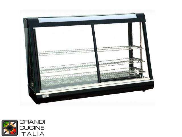 Hot Showcase - 3 extractable and adjustable shelves - Width 120 Cm - Temperature Range 30 / 110°C