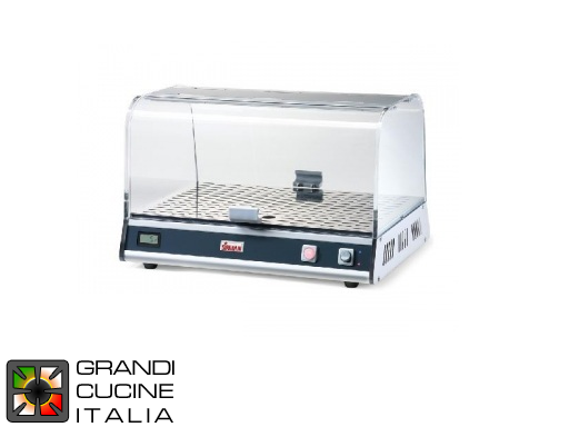 Warm showcase for brioches - 1 shelf - 300W - Max Temperature 40°C
