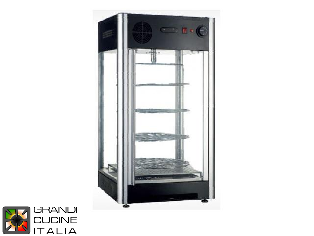 Hot Vertical Showcase with 4 Motorized Rotative Shelves - Capacity 108 Lt