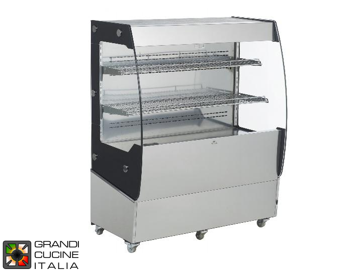Vertical Refrigerated Showcase - 2 Shelves - Open Front - Positive Temperature +2/+10 °C