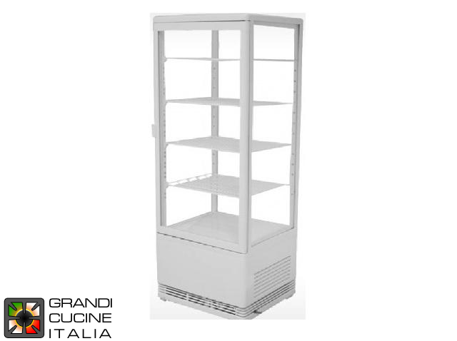 Vertical Refrigerated Cabinet - 4 Adjustable Shelves - Temperature Range +2/+12 °C - White Color