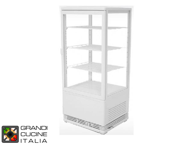 Vertical Refrigerated Cabinet - 3 Adjustable Shelves - Temperature Range +2/+12 °C - White Color