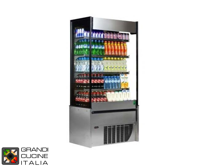 Multideck Wall Refrigerator - 503 Liters - Ventilated Refrigeration - Temperature +2 / +4 °C - in Stainless Steel
