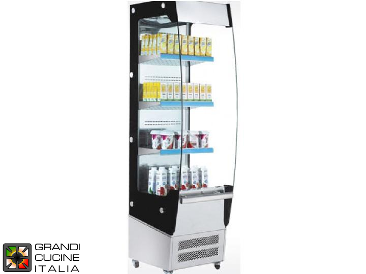 Vertical Refrigerated Showcase - 3 Shelves - Open Front - Positive Temperature +2/+10 °C