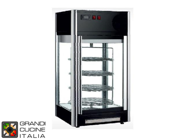 Refrigerated Vertical Tabletop Showcase - 4 Motorized Rotary Shelves - Positive Temperature +2/+12 °C