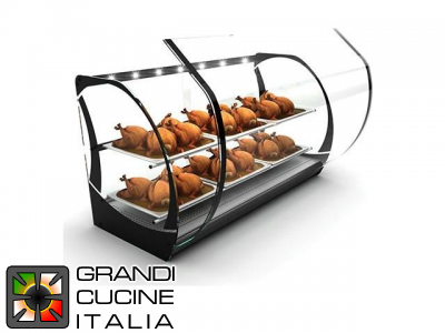 "Hot Showcase for Cookery ""Honda"" - with 6 GN2\3 Trays - Temperature Range 30 - 90°C"